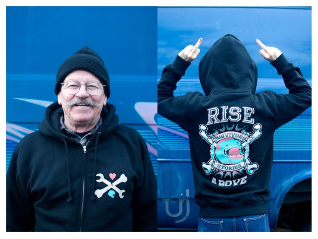 Image of Rise Above Survivors Stories Hoodie