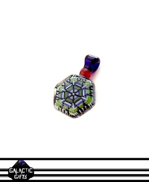 Image of Robin Moore Green/Blue Tartan Colour Scheme Sacred Geometry Pendant