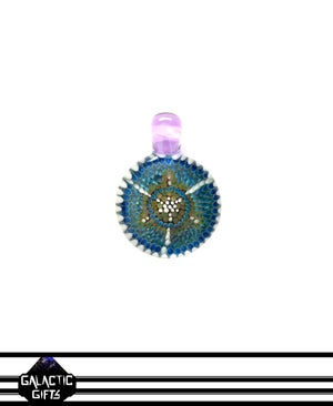 Image of Zach Strasburg Green, Purple & Blue Geometric Dot Work Pendant