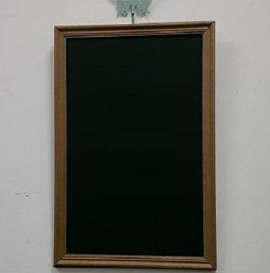 Image of Medium Chalkboard with Narrow Natural Brown Corrugated Frame