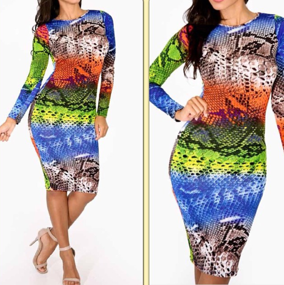 Image of Snake Reptile Midi Dress *** Multiple Colors