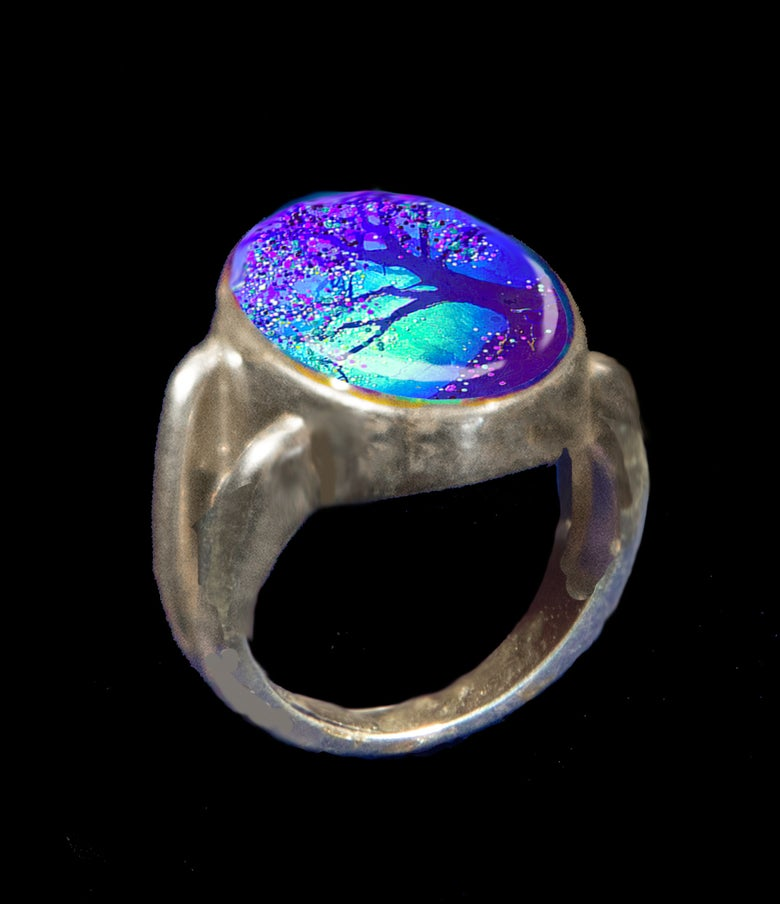 Image of Firefly Tree Energy Ring - Connect to the other side.