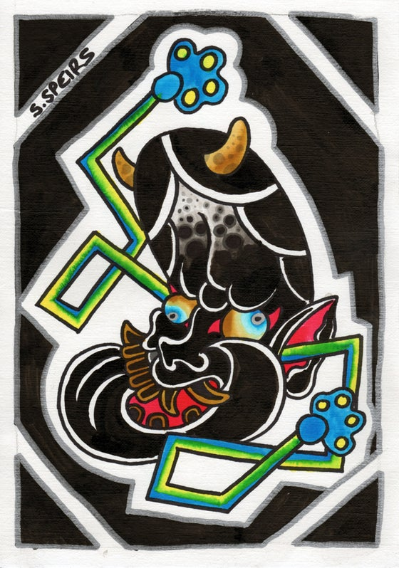 """Image of """"Hannya Mask"""" and Flash sheet by STEPHEN SPEIRS"""