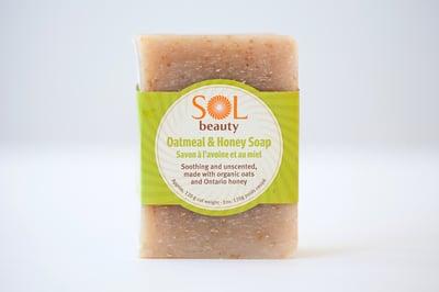 Oatmeal and Honey Soap - Sol  Beauty
