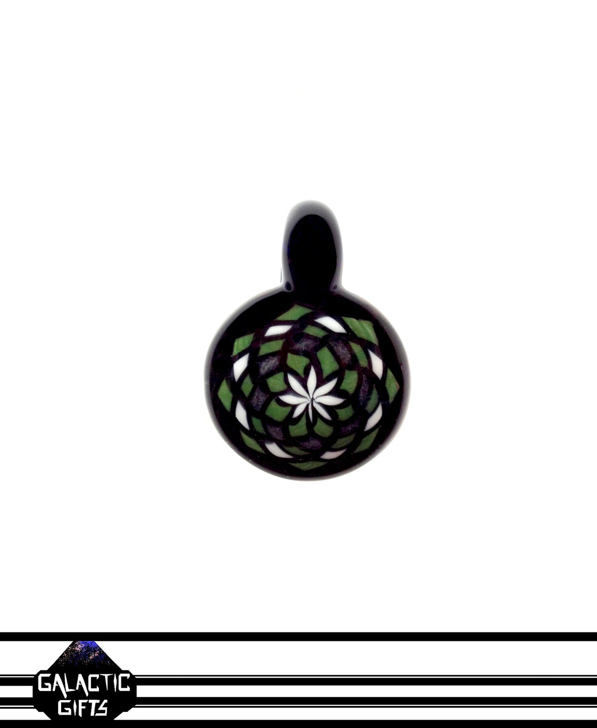 Image of Zach Strasburg Green, Black & White Fillacello Pendant
