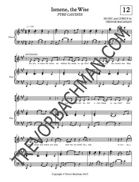Image of 'Ismene, the Wise', PYRE CANTATA Sheet Music