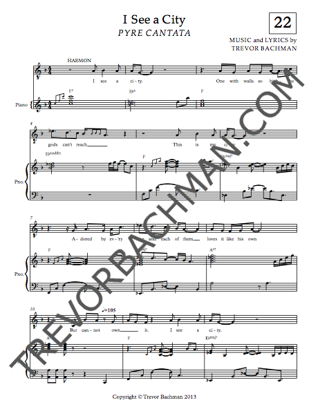 Image of 'I See a City', PYRE CANTATA Sheet Music