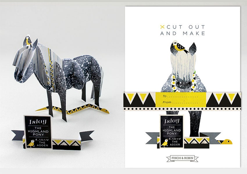 Image of Cut Out and Make Highland Pony, 'Islay'