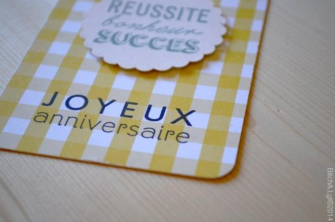 """Image of Carte d'Anniversaire """"Joyeux Anniversaire"""" colorée 2"""