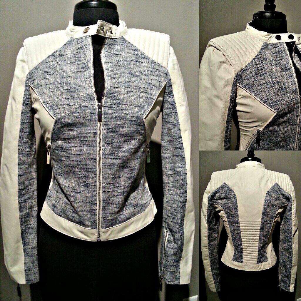 Image of The White Lamb Leather Jacket**ON SALE**