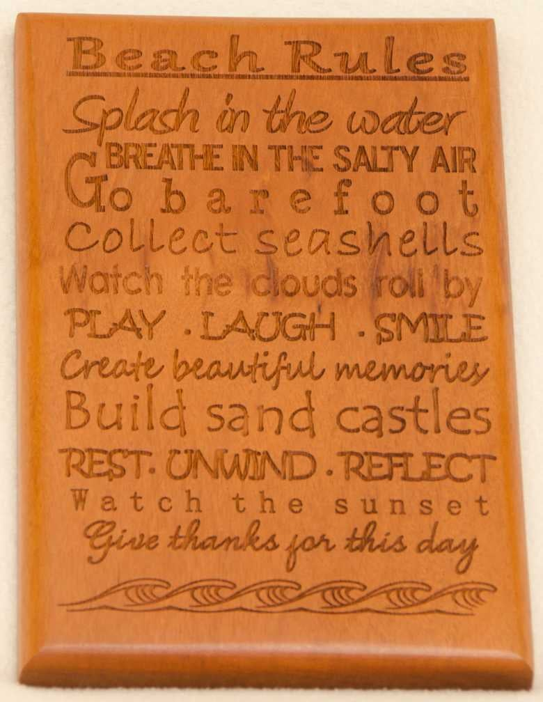 Image of Beach Rules Wall Hanging