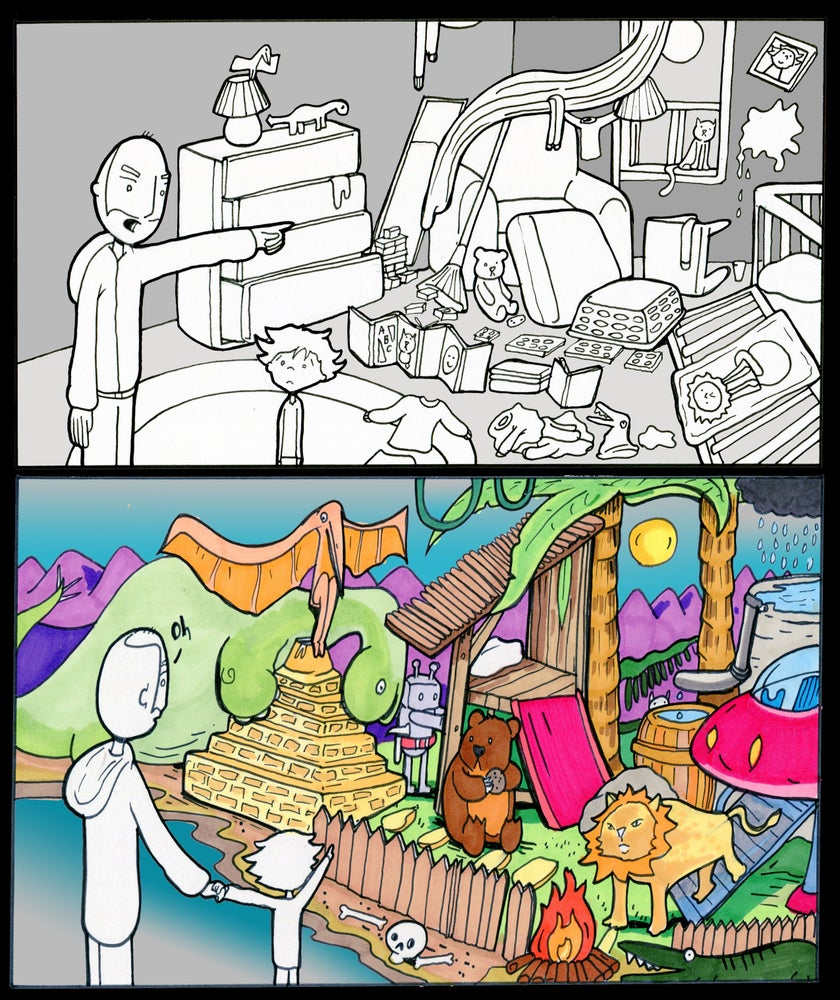 "Image of Lunarbaboon ""Mess"" Print"