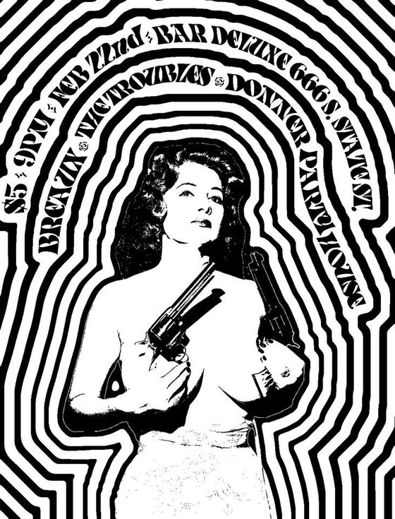 "Image of ""Woman + Revolvers"" poster"