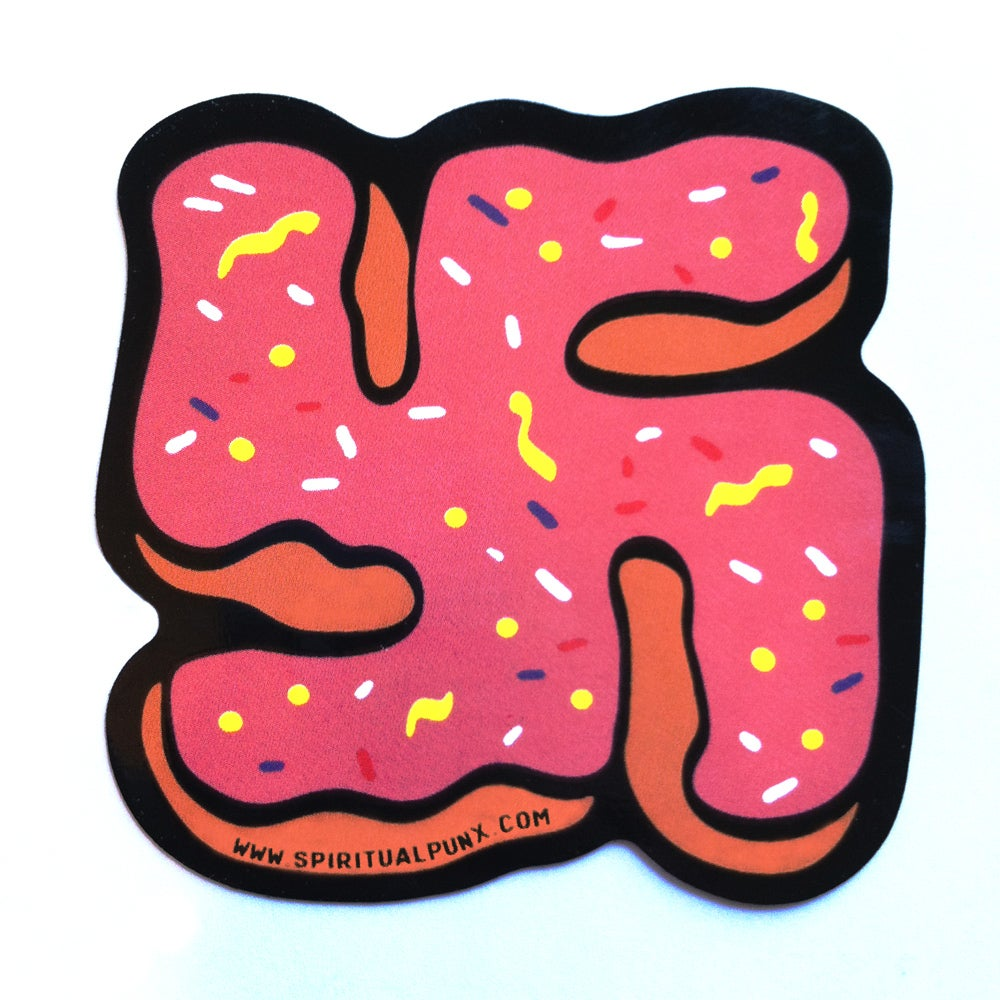 Image of 3 DONUT SWASTICKERS