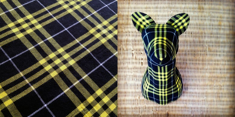 Image of 'Black & Yellow' Flannel Fox - Small