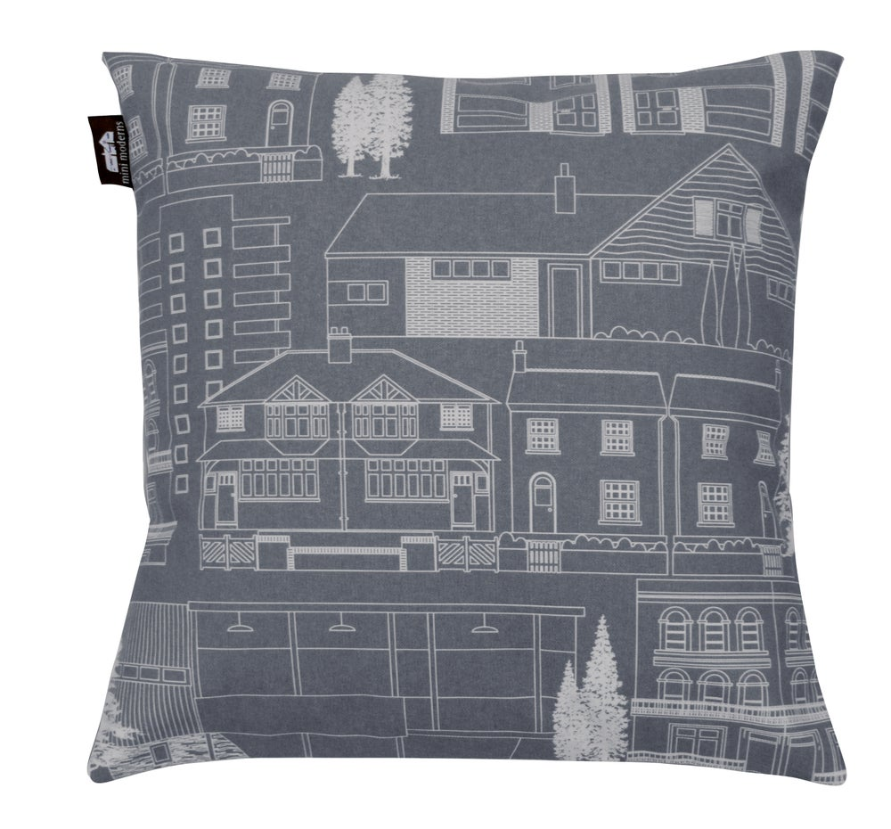 Image of Town Cushion - Dark Grey