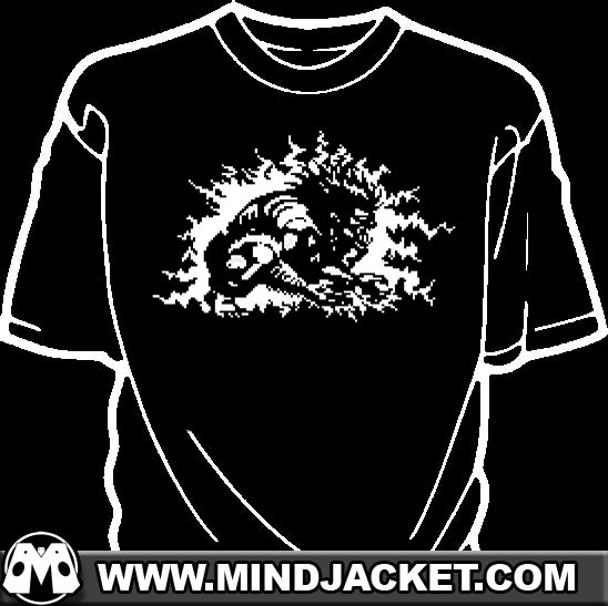 Image of Blanka Zap pixel shirt (street fighter inspired)