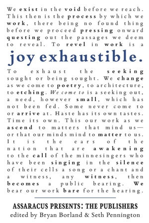Image of ALA Over the Rainbow Title! Joy Exhaustible: Assaracus Presents The Publishers