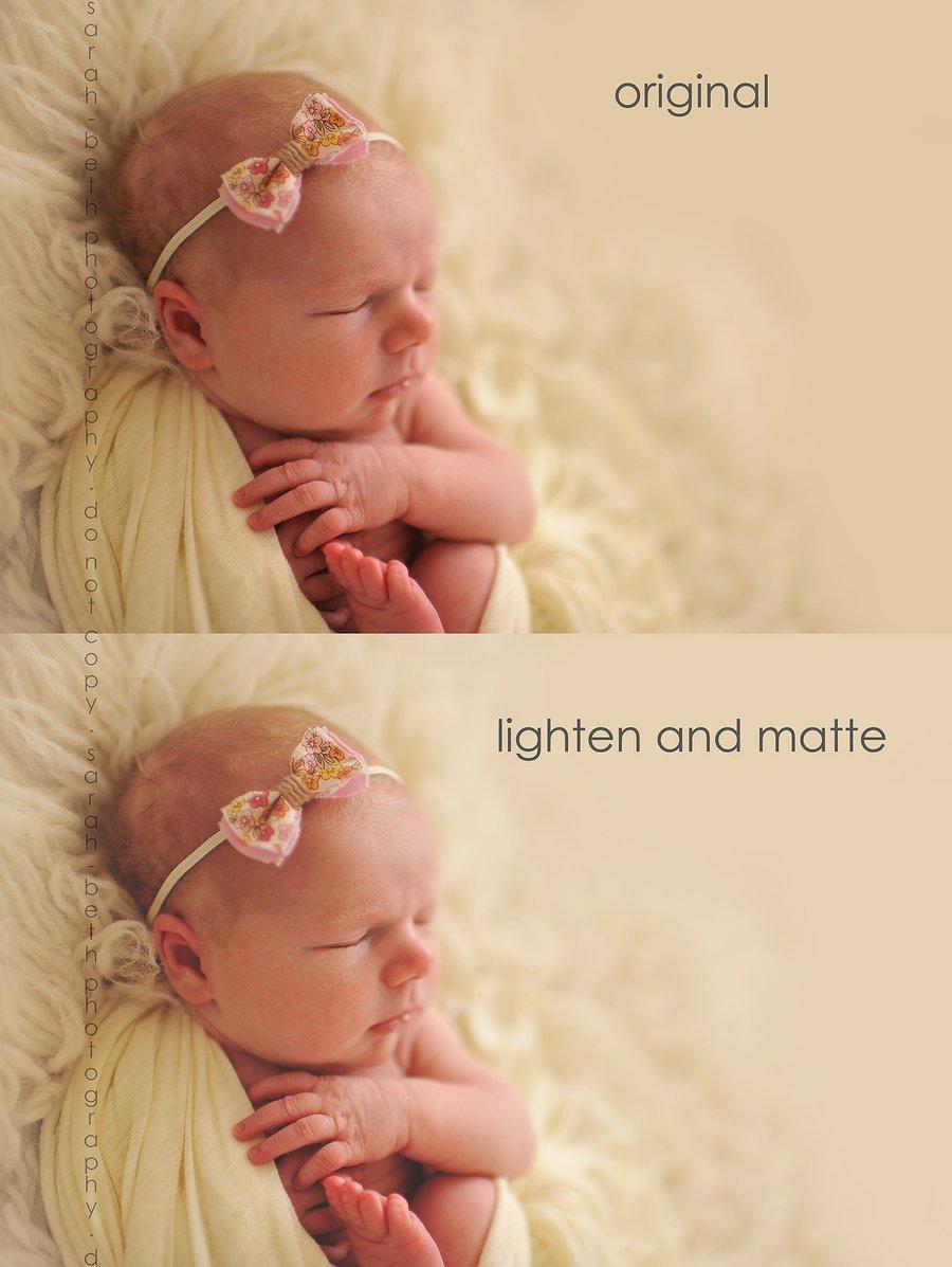 Image of SBP Lighten & Matte Finishing Action for Photoshop (cs2-6)