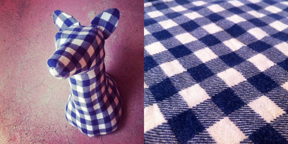 Image of Flannel Fox (Blue & White) - Small