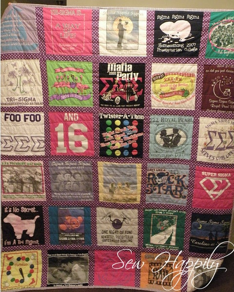 Image of Custom TShirt Quilt
