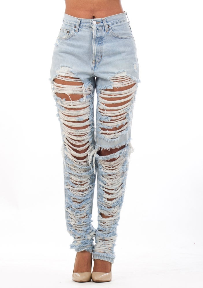 Image of Light Blue Top-Bottom Jeans **PRE-ORDER WILL SHIP 05/31