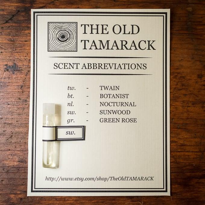 Image of Individual Perfume Oil Sample
