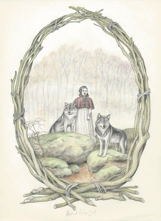 Image of ANIMAL serie Mrs.Wolf