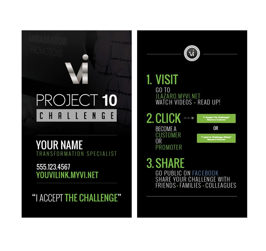 Image of Project 10 Challenge Business Cards