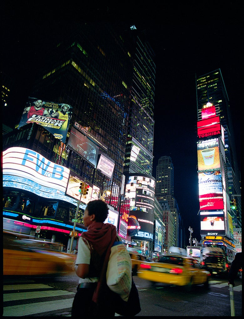 Image of Time Square Woman