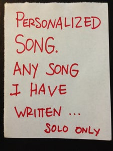Image of PERSONALIZED SONG