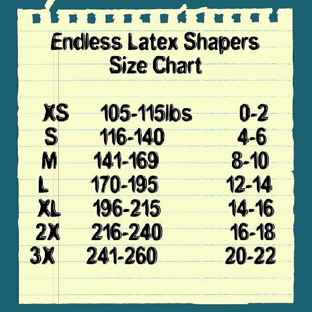 Image of Latex Sizing Chart