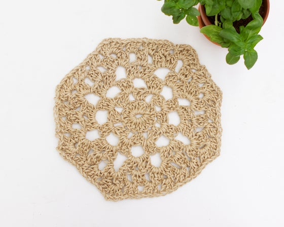Image of Chunky crocheted table centre piece