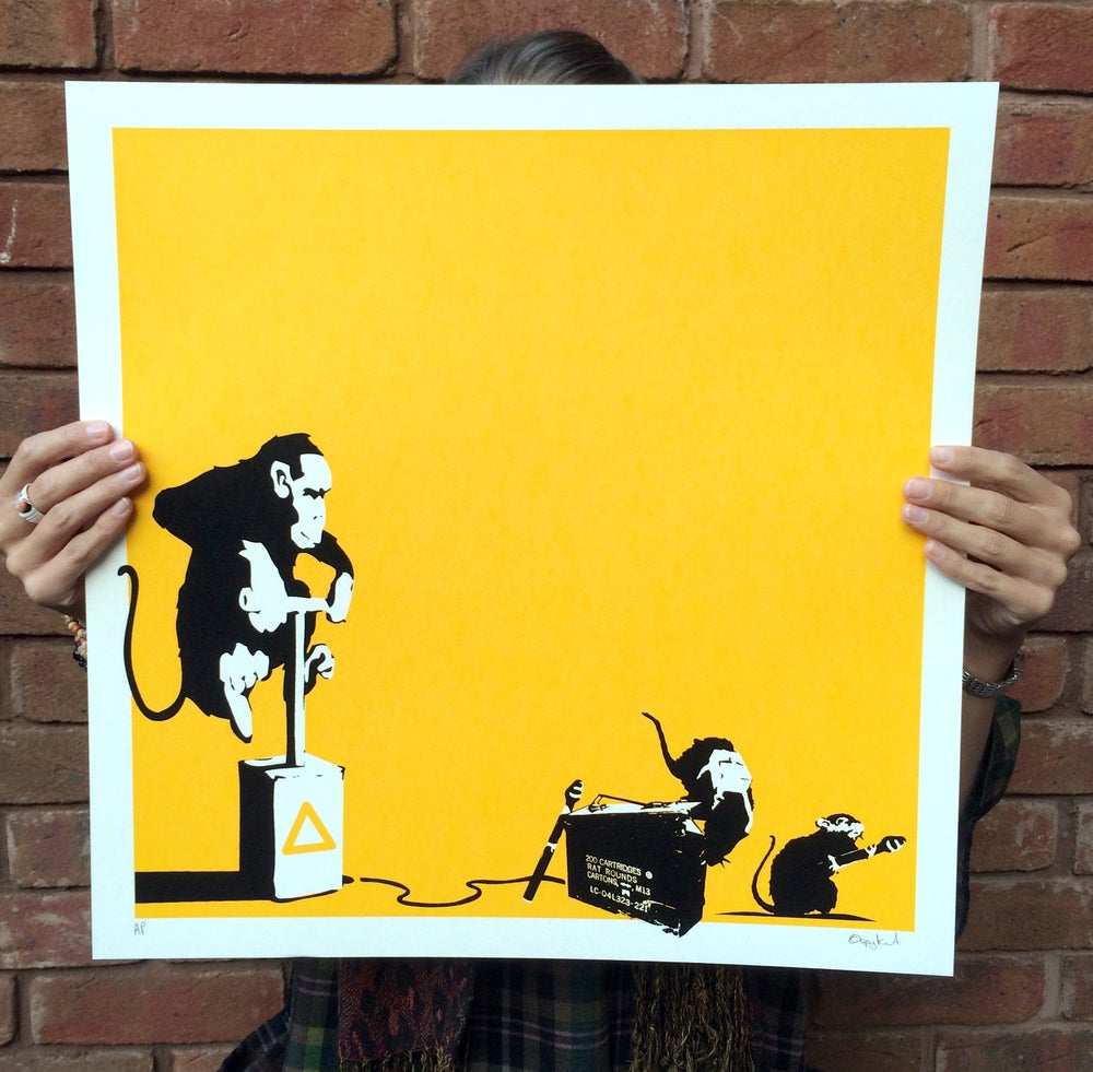 Image of IT'S GONNA HURT Screenprint by ©opyKat, Triptych to Outis & ArtbySix