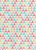 "Image of tissu ""TRIANGLES PRINTEMPS""/ fabric""TRIANGLES PRINTEMPS"""