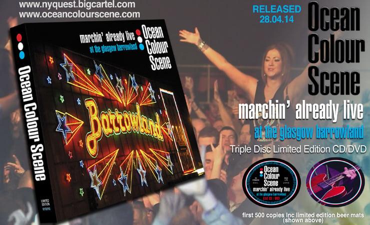 "Ocean Colour Scene ""Marchin Already Live"" Limited Edition"