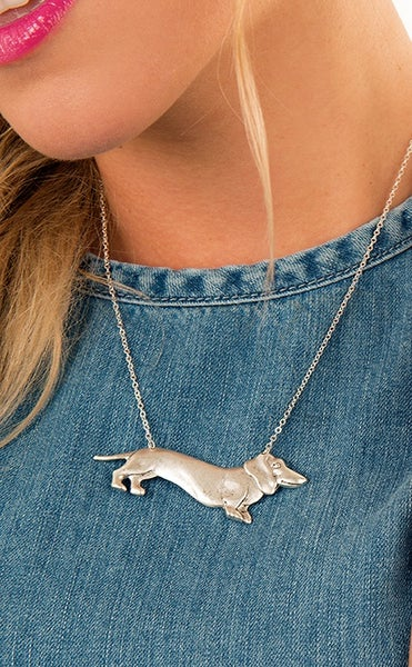 Image of Sausage dog necklace