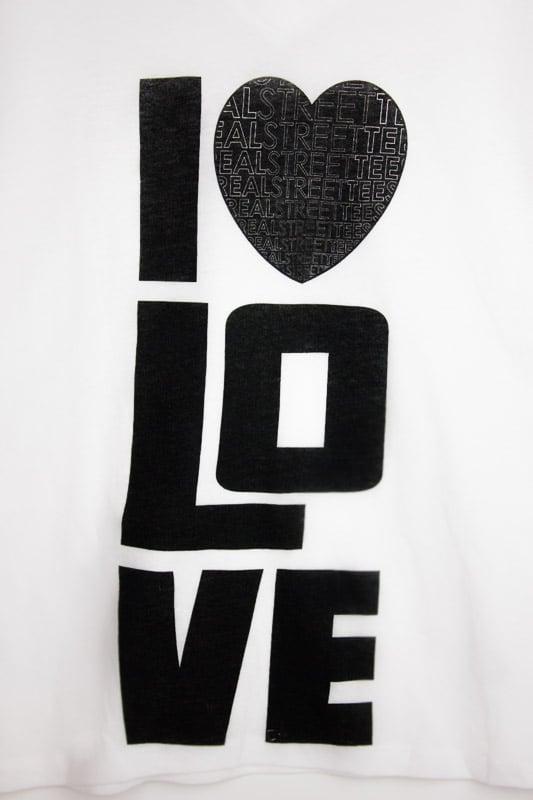 Image of I LUV LOVE- White Tee