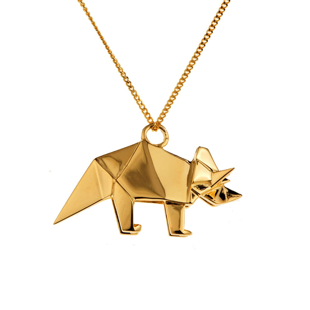 Collier Triceratops - Origami Jewellery