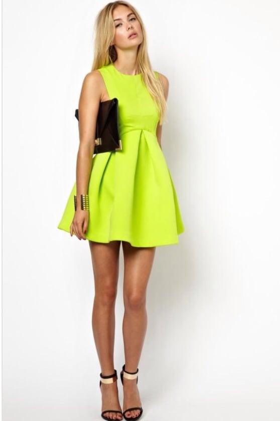 Image of Pleated Big Swing Dress