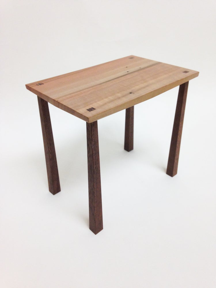 Image of Miniature Pear and Black Walnut Cardinal Table