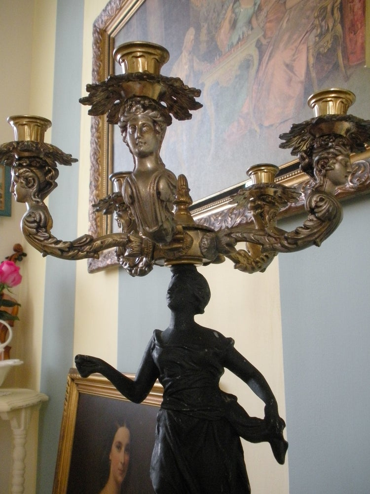 Image of Antique Empire Candelabra
