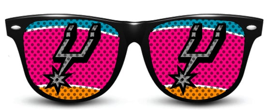 Image of My Custom Specks San Antonio Spurs Specks (Retro Logo)