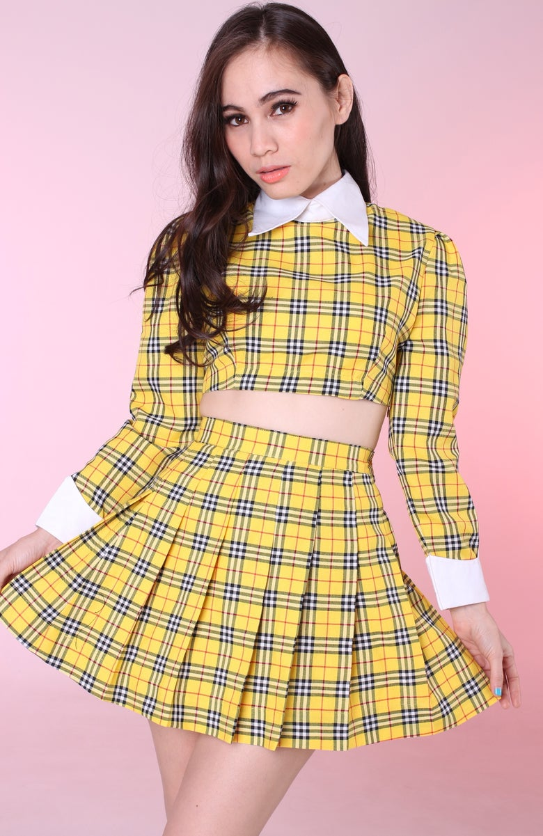 Image of Ready to post - As If Yellow Tartan Set