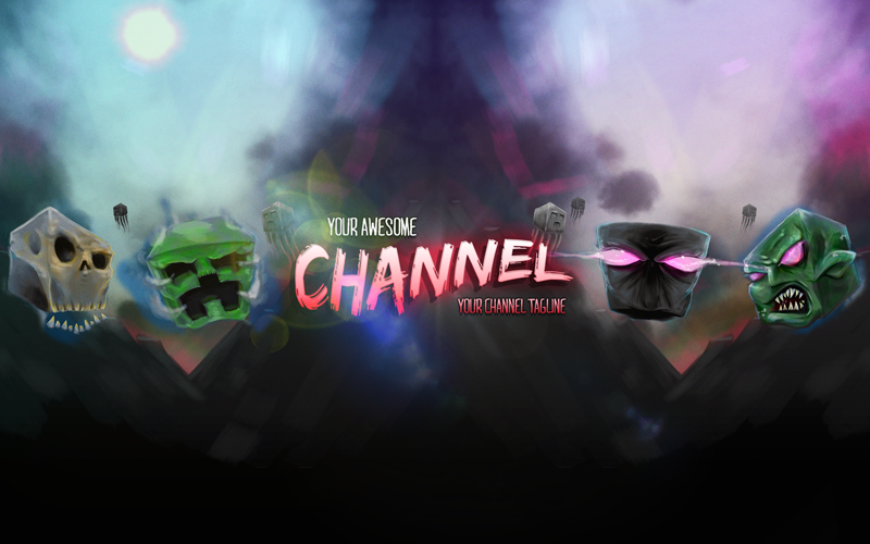"""Image of """"Survive"""" Premium YouTube Banner Template"""