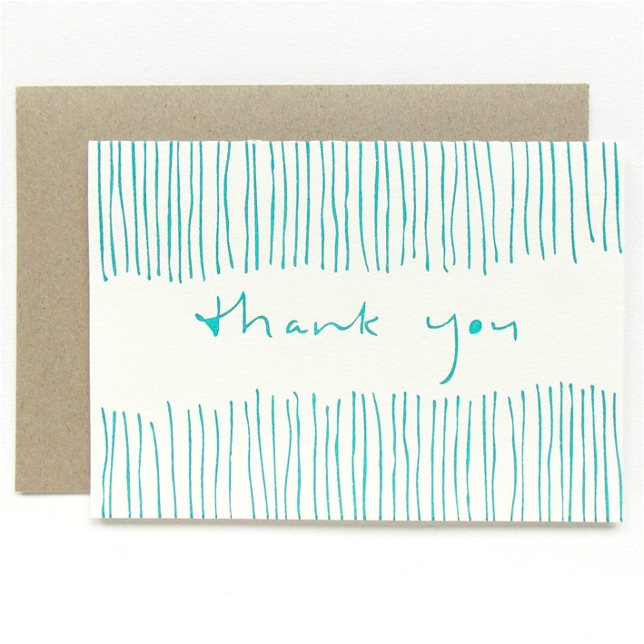 Image of Letterpress Gift Card - Thank You