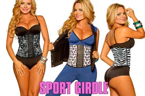 Image of Sport Latex Waist Cincher Body Shaper - #1 Seller!