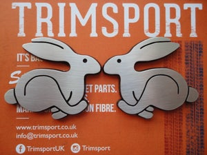 Image of Trimsport VW Golf Mk1 Rabbits Pair of Badges