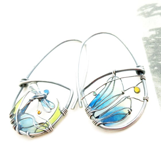 Image of Close Up Dragonfly Earrings
