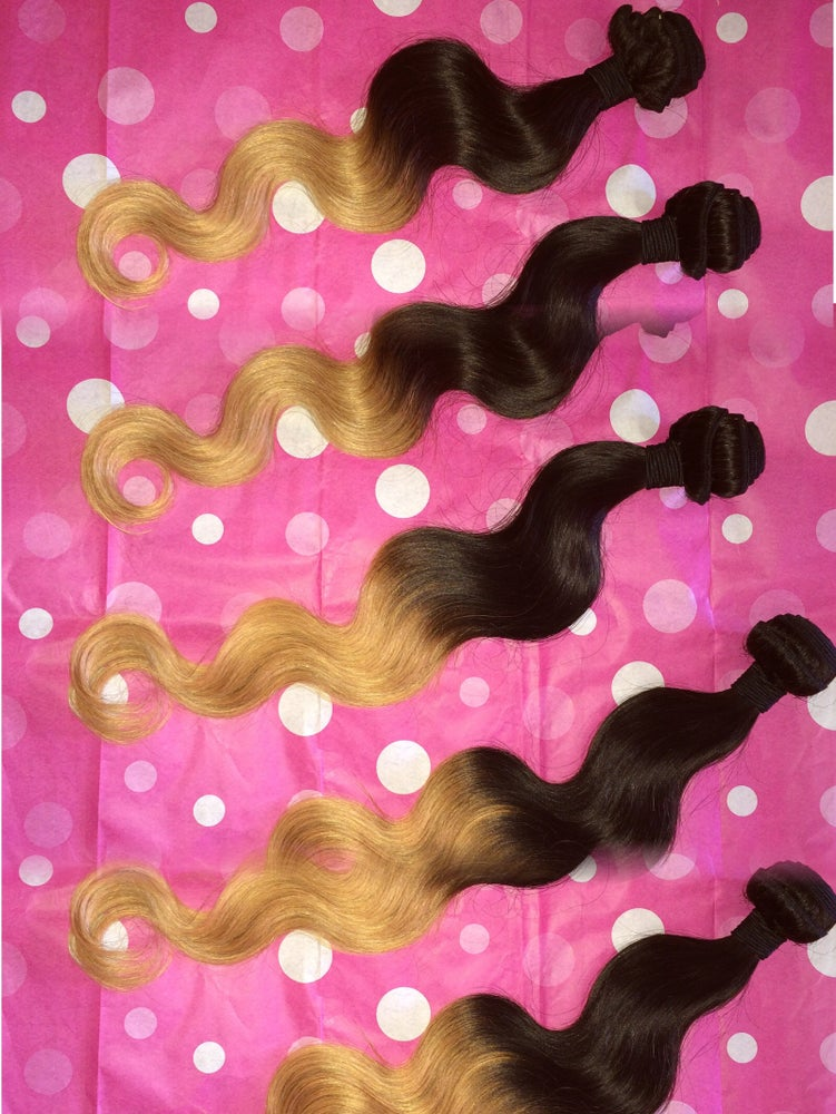 Image of Ombre-2 Color 1B/27 Golden Blonde Body Wave-8A